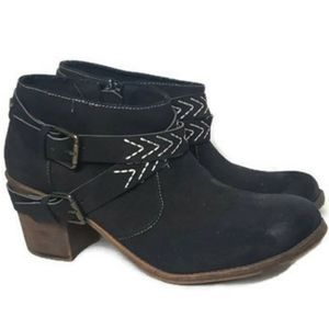 Roxy Black Booties Janis size 8.5M